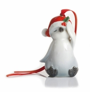 Franz Porcelain Collection Holiday Greetings Sculptured Porcelain Penguin Ornament