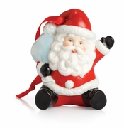 Franz Collection Porcelain Holiday Greetings Santa Ornament
