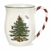 Spode Christmas Tree Mugs with Candy Cane Handles (4)