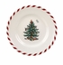 Spode Christmas Tree Peppermint Canape Plates Set of 4