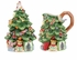 Spode Christmas Tree Christmas Tree Shape Sugar & Creamer Set