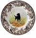 Spode Woodland Hunting Dogs Black Labrador Dinner Plate