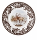 "Spode Woodland American Wildlife Collection Winter Scenes 8"" Salad Plate - Elk"