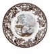 "Spode Woodland American Wildlife Collection Winter Scenes 8"" Salad Plate - Snowshoe Rabbit"