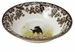 "Spode Woodland Hunting Dogs 8"" Cereal Bowl Ascot - Labrador Retriever (Black)"
