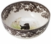 "Spode Woodland Hunting Dogs 9.5"" Round Serving Bowl - Labrador Retriever (Black)"
