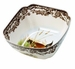 Spode Woodland Large Square Bowl - Quail & Lapwing Design