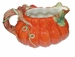 Spode Woodland Harvest Pumpkin Gravy Boat with Tray