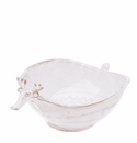 Vietri Bellezza Santa White Reindeer Serving Bowl