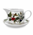 Portmeirion Holly & Ivy Gravy Boat & Stand