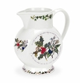 Portmeirion Holly & Ivy 2 Pint Jug (Coral)