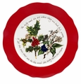 "Portmeirion Holly & Ivy Red Border 13"" Charger Plate"