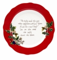 Portmeirion Holly & Ivy Red Border Accent Plate