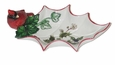 Portmeirion Holly Cardinal Tidbit Leaf Dish