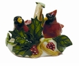 Portmeirion Holly Cardinal Cardinal Salt & Pepper with Holder