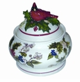 Portmeirion Holly Cardinal Covered Box