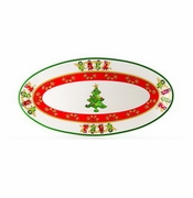 Skyros Designs Winter Angel Large Oval Platter