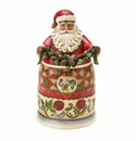 Enesco Jim Shore Secret Santa with Ornament Box / Figurine