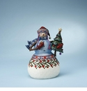 Enesco Jim Shore Snowman with Pipe & Tree Figurine