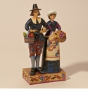 Jim Shore Heartwood Creek Pilgrim Couple Figurine