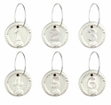 Juliska Berry and Thread Wine Charms Set/6 Whitewash