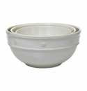 Juliska Berry and Thread Mixing Bowls Set/3 Whitewash