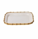 Juliska Classic Bamboo Small Rectangular Platter Natural