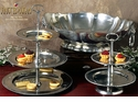Intrada Italy Peltro San Marco Two Tiered Pewter Serving Stand