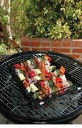 Charcoal Companion Non-Stick Kabob Basket With Six Skewers