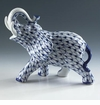 Andrea by Sadek Porcelain Blue Net Elephant
