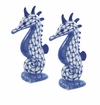 Andrea by Sadek Blue Net Sea Horse Salt and Pepper Pair