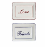 Andrea by Sadek Love & Friends Rectangular Plates Blue & Red