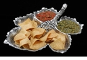 Arthur Court Designs Grape Leaf Chip & Multi Dip Tray