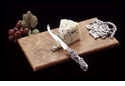 Arthur Court Grape Cheese Knife with Onyx Cutting Board