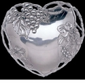 Arthur Court Designs Grape Heart Coupe Tray