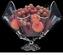 "Arthur Court Designs Grapevine Standing Base with 14"" Clear Acrylic Bowl"