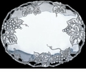 Arthur Court Designs Grape Oval Platter