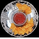 "Arthur Court Designs Grape 14"" Round Chip & Dip Tray"