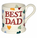 Emma Bridgewater Polka Hearts Best Dad 1/2 Pint Mug