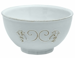 Juliska Dinnerware Petit Singe Round Cereal Bowl - Whitewash