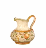"Vietri Affresco Round Body Pitcher 7.5"" H, 7 Cups"