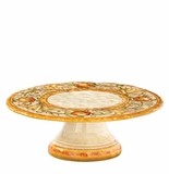 "Vietri Affresco Footed Cake Stand 13.25"" D, 4.25"" H"