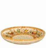 "Vietri Affresco Shallow Round Serving Bowl 14"" D, 2.25"" H"