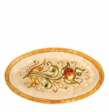 "Vietri Affresco Small Oval Platter 13"" L, 7.25"" W"