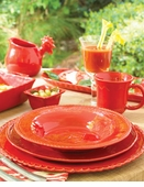 Vietri Bellezza Tomato Red Dinnerware
