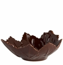 "Vietri Cioccolata Small Grape Leaf Bowl 7"" L, 6"" W, 2"" H"