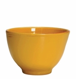 "Vietri Fantasia Yellow Deep Serving Bowl 8.25"" D 5.75"" H"