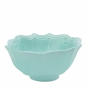Vietri Incanto Aqua Baroque Medium Serving Bowl
