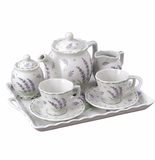 Andrea by Sadek Porcelain Breakfast Tea Set - Lavender