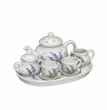 Andrea by Sadek Lavender Porcelain 10 Piece Child's Tea Set